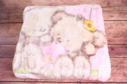 Detská deka VZOR 1. - ružová (93x125 cm)