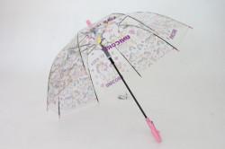 Detská vystreľovací dáždnik s píšťalkou FEELING RAING 191021 UNICORN - bledoružový p.95cm