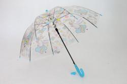 Detská vystreľovací dáždnik s píšťalkou FEELING RAING 191021 UNICORN - modrý (p. 95cm)