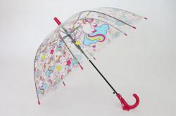 Detská vystreľovací dáždnik s píšťalkou FEELING RAING 191021 UNICORN - ružový (p. 95cm)