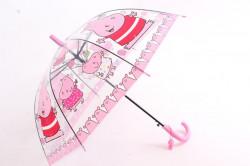 Detský dáždnik s píšťaľkou, ART:POE1025, transparentný