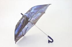 Detský dáždnik s píšťalkou FEELING RAING 10201 - AUTO VZOR 7.- tmavofialový (p. 87 cm)
