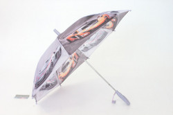 Detský dáždnik s píšťalkou FEELING RAING 10201 - AUTO VZOR 8.- bledofialový (p. 87 cm)