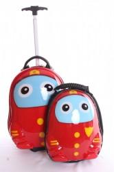 Detský kufor + ruksak (53x45x23 cm) - červený