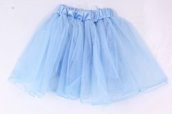 Dievčenská sukňa tylová - bledomodrá