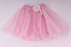 Dievčenská sukňa tylová - ružová