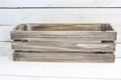 Drevená debnička - hnedá (45x14x15 cm)