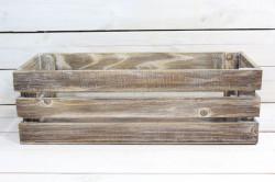 Drevená debnička - hnedá (50x16x20 cm)
