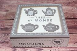 Drevená krabica na čaj
