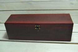 Drevená krabica na víno - mahagónová 2 (36x12x11 cm) #1