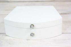 Drevená šperkovnica - biela (21x6,5x17,5 cm)