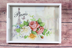 Drevená tácka PARIS (33x24 cm)