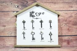 Drevený stojan na kľúče