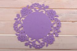 Filcové okrúhle prestieranie fialové 35 cm - 1