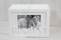 Fotoalbum FAMILY na 96 fotiek - biely (21x16x12 cm)