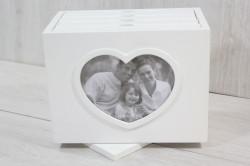 Fotoalbum SRDCE - biely (20x16,5x12,5 cm)