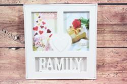 Fotorám na 2 fotky FAMILY - (24x26 cm)