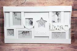 Fotorám na 7 fotiek HOME-LOVE - biely (66x36 cm)