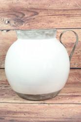 Hlinený džbán - bielo-strieborný (v. 28cm)