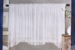 Hotové záclony DS045 (š. 400 cm, v. 150 cm) - biela