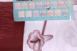 Hotové záclony farebné (400x150 cm) - bordové