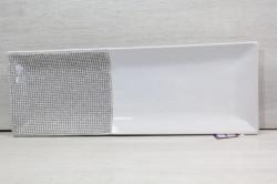 Keramická tácka s kamienkami - biela (39,5x14 cm) #1