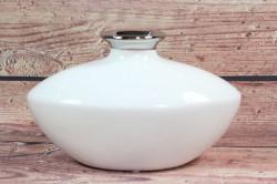 Keramická váza bielo-strieborná (v. 13,5 cm)