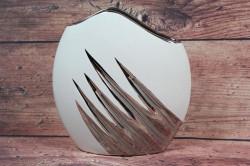 Keramická váza - bielo-strieborná (v. 20 cm)