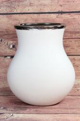 Keramická váza bielo-strieborná (v. 25 cm)