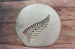 Keramická váza LIST -strieborná (v. 25 cm)