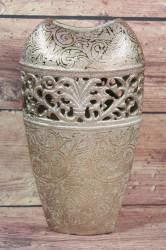 Keramická váza zlatá (v. 30 cm)