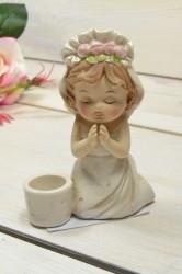 Keramické dievčatko - svietnik (v. 12 cm)
