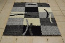 Koberec (120x170 cm) VZOR 1. - sivo-čierny