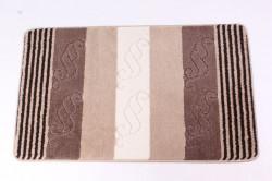 koberec do kúpeľne (60x100 cm) - vzorovaný - hnedobéžový