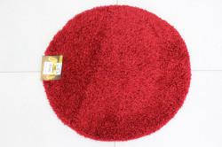 Koberec okrúhly SHAGGY - DAIRE PLAIN (SS-37) - červený (p. 65 cm)