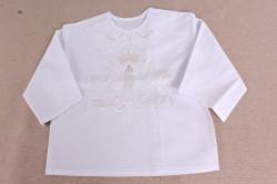 Košieľka na krst VZOR 2. - biela
