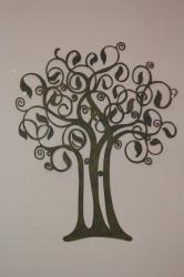 Kovová dekorácia - strom (41,5x49,5 cm)