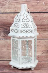 Kovový lampáš (v. 30 cm)