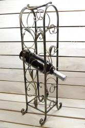 Kovový stojan na 5 fliaš vína (v. 63 cm)