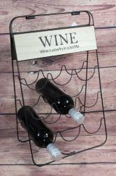 Kovový stojan na 9 vín