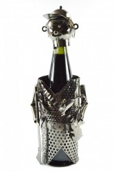 Kovový stojan na fľašu POĽOVNÍK (V. 20 cm)