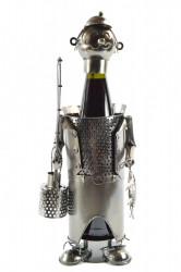 Kovový stojan na fľašu RYBÁR (V. 23 cm)