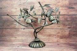 Kovový svietnik na 4 sviečky (v. 43 cm)