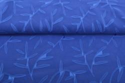 Kráľovsko-modrý silón s listami (m)