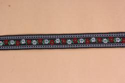 Krojová stuha (š. 2,5 cm) - čierno-biela #1