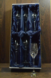 Kryštáľové poháre LIKÉRKY so swarovski kryštáľmi v saténovom balení