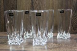 Kryštáľové poháre na VODU (6 ks) BOHEMIA CRYSTAL (350 ml)