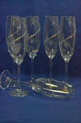 Kryštálové poháre so swarovski kryštálmi BOHEMIA 6 ks (220 ml)