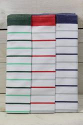 Kuchynská utierka z egyptskej bavlny 3 ks (50x70 cm) VZOR 2 - zeleno-biela