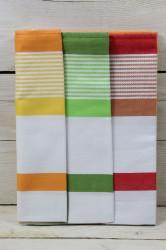 Kuchynská utierka z egyptskej bavlny 3 ks (50x70 cm) VZOR 3 - farebná